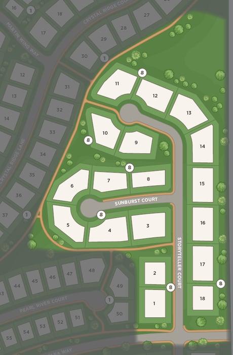 Half-acre homesites map